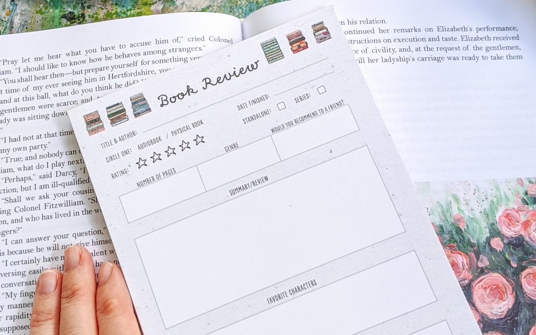 Track Your Reading Thoughts with Book Review Notepads!